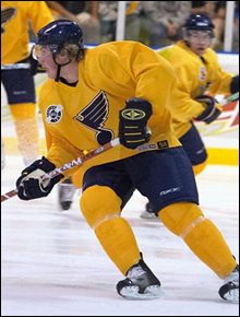 T.J. Oshie from Blues development camp this summer