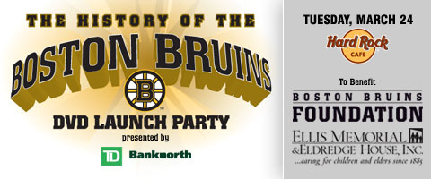 History of the Boston Bruins DVD Launch Party