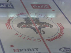 center ice at BankAtlantic Center