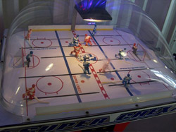 Bubble hockey at Ottawa practice rink