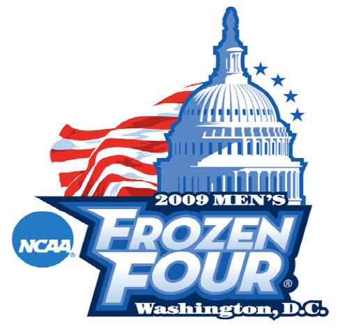 The logo of this years Frozen Four