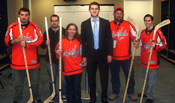 Karl Alzner and Pick-a-Stick winners