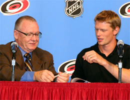 Jim Rutherford and Eric Staal