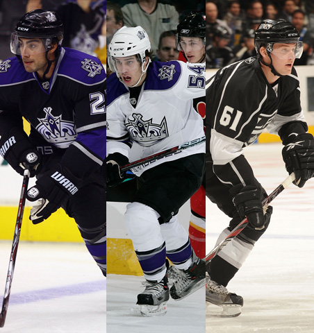 Kings prospects Matt Moulson, Trevor Lewis and Teddy Purcell