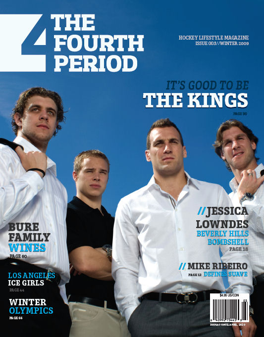 LA Kings cover feature in Fourth Period Magazine. ©2009 Gary Livingston