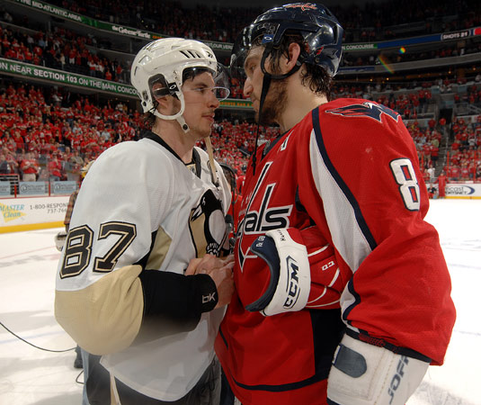 Alex Ovechkin shake hands