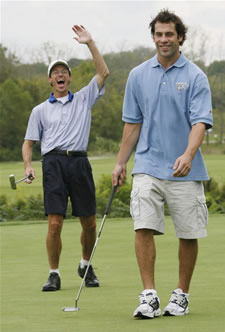David Legwand with a participating golfer