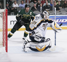 Mike Modano and Tomas Vokoun