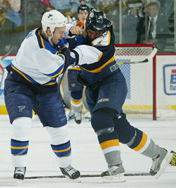 Barret Jackman and Darcy Hordichuk