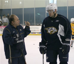 Barry Trotz and Josef Vasicek