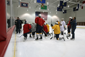 Predators at Centennial practice.