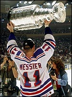 Messier Hoists the Cup