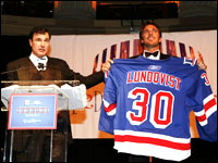 Henrik Lundqvist and Joe Micheletti