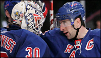 Henrik Lundqvist and  Chris Drury