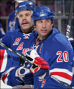 Olli Jokinen and Vinny Prospal