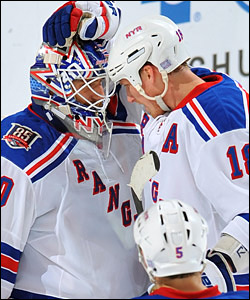 Henrik Lundqvist and Marc Staal