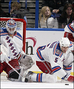 Martin Biron and Dan Girardi