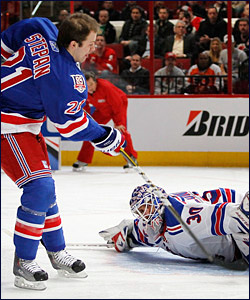 Derek Stepan and Henrik Lundqvist