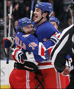 Mats Zuccarello and Brian Boyle