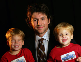 Brown with sons Gage and Garret