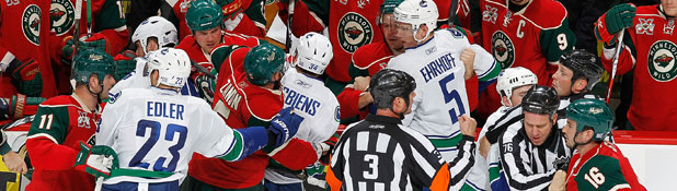 Wild vs. Canucks